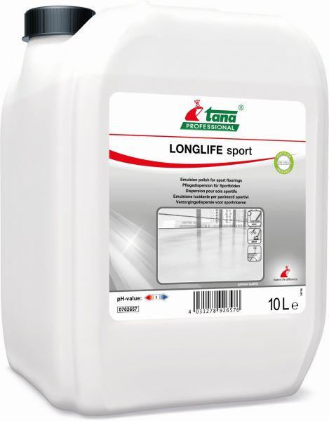 TANA LONGLIFE sport, Pflegedispersion für Sportböden, 10 Liter