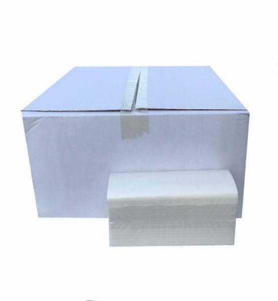 Hygie Falthandtücher, N-Falz, 21x24 cm, 2-lagig, Zellstoff, Hochweiß, 3000 Blatt/Karton