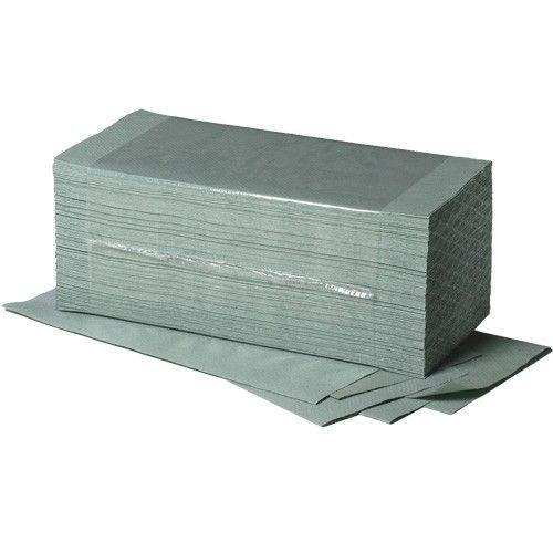 Fripa Falthandtücher einlagig grün, 25x33 cm, Recycling, 20x156 Tuch/Karton, 28 Karton/Palette