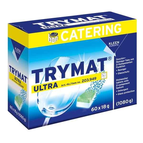 KLEEN TRYMAT ULTRA Geschirr-Reiniger-Tabs mit Glasschutz, chlorfrei, 60 x18 Tabs