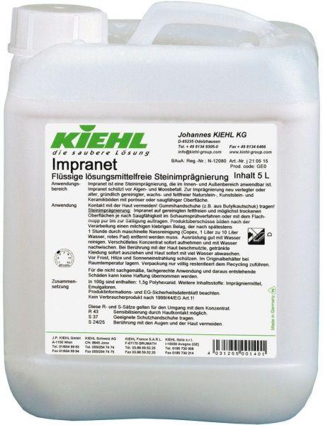 Kiehl Impranet, lösungsmittelfreie Steinimprägnierug, 5 Liter