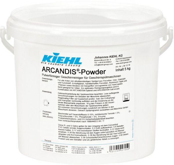 Kiehl ARCANDIS®-Powder Pulverförmiger Geschirrreiniger für Geschirrspülmaschinen, 5 kg