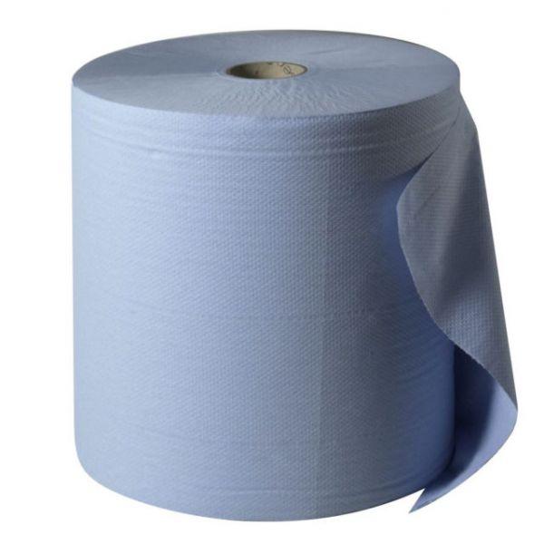 Katrin Putzrolle 2-lagig, blau, 1.000 Abriss, 38 x 36 cm, 30 Pack a 2 Rollen = 1 Palette
