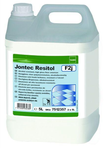 TASKI Jontec Resitol Hochglanz-Dispersion, alkoholresistent, 2 X 5 Liter